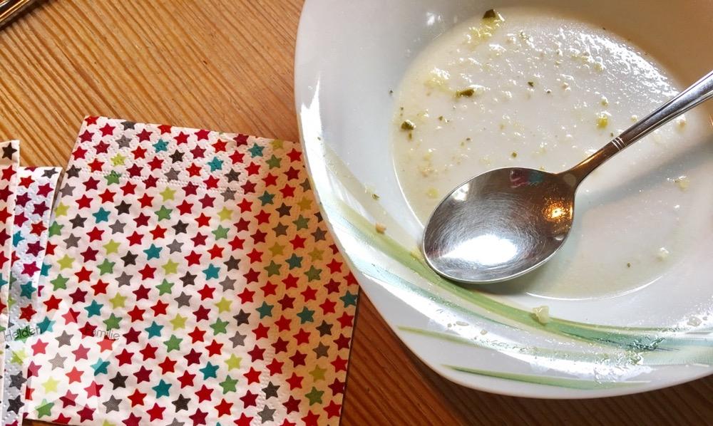 Wochenende in Bildern - Zurück in den Alltag - warme Suppe