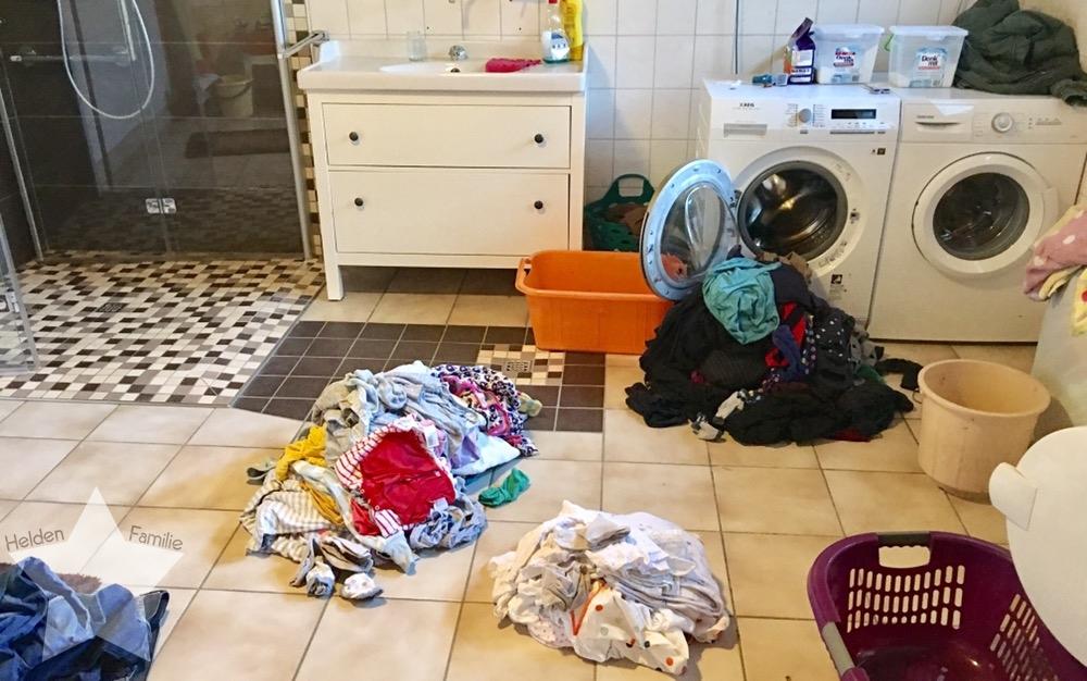 Wochenende in Bildern - Zurück in den Alltag - Wäsche-Wahnsinn
