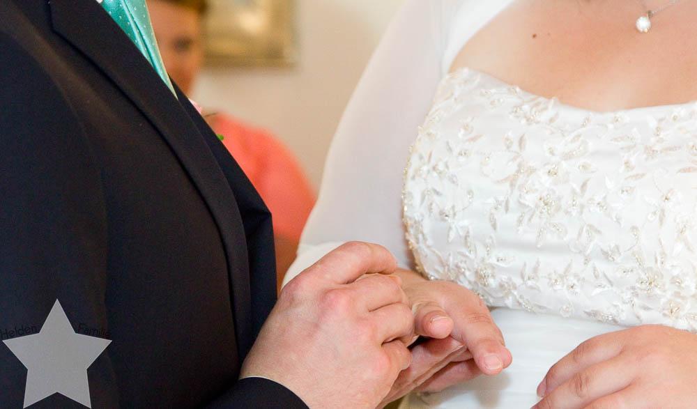 meine Hochzeit - endlich verheiratet - Fotos vom Fotografen - Ringtausch
