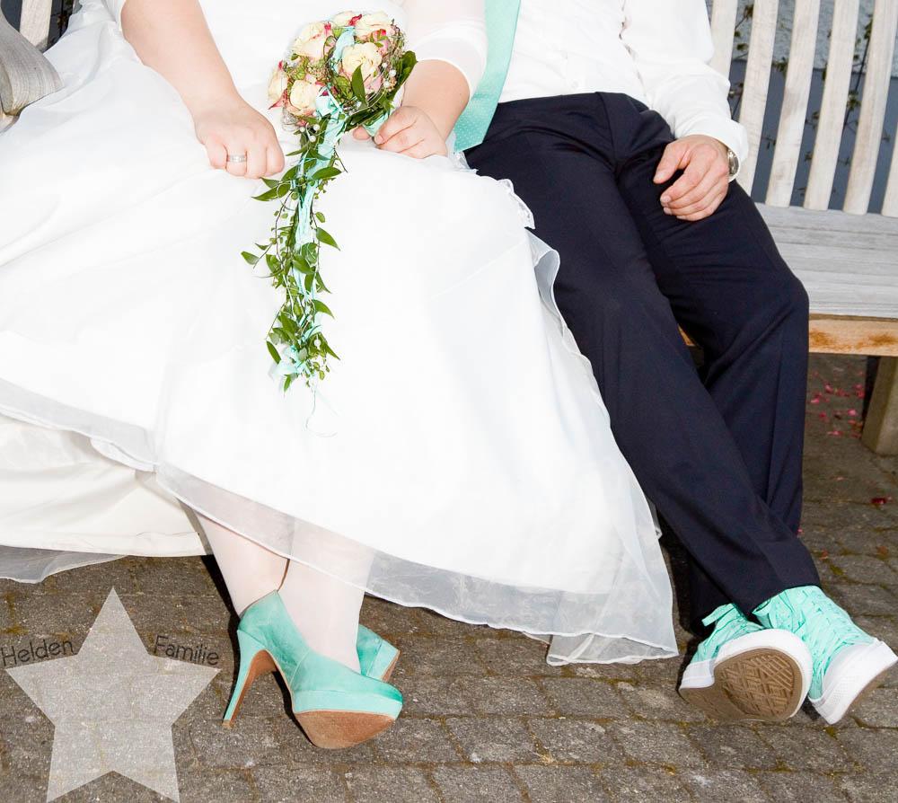 meine Hochzeit - endlich verheiratet - Fotos vom Fotografen - Mint als Hochzeitsfarbe