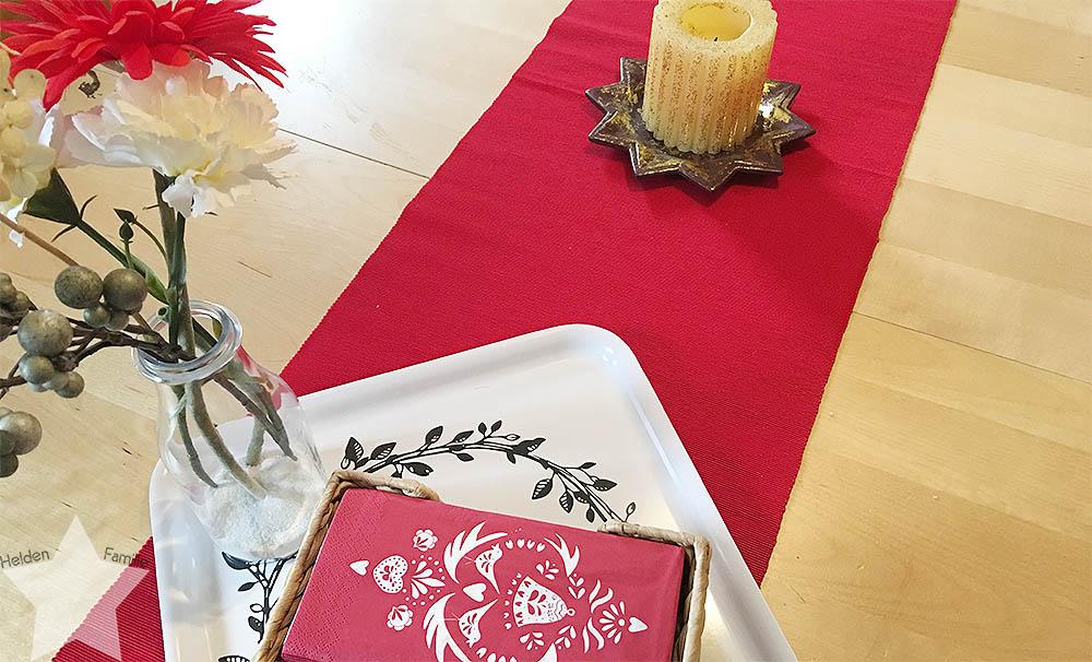 1. Adventswochenende in Bildern - neue Tischdeko