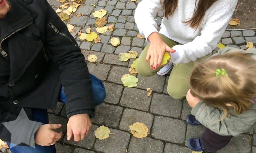 Wochenende in Bildern - Familienzeit - Blätter zum knallen bringen
