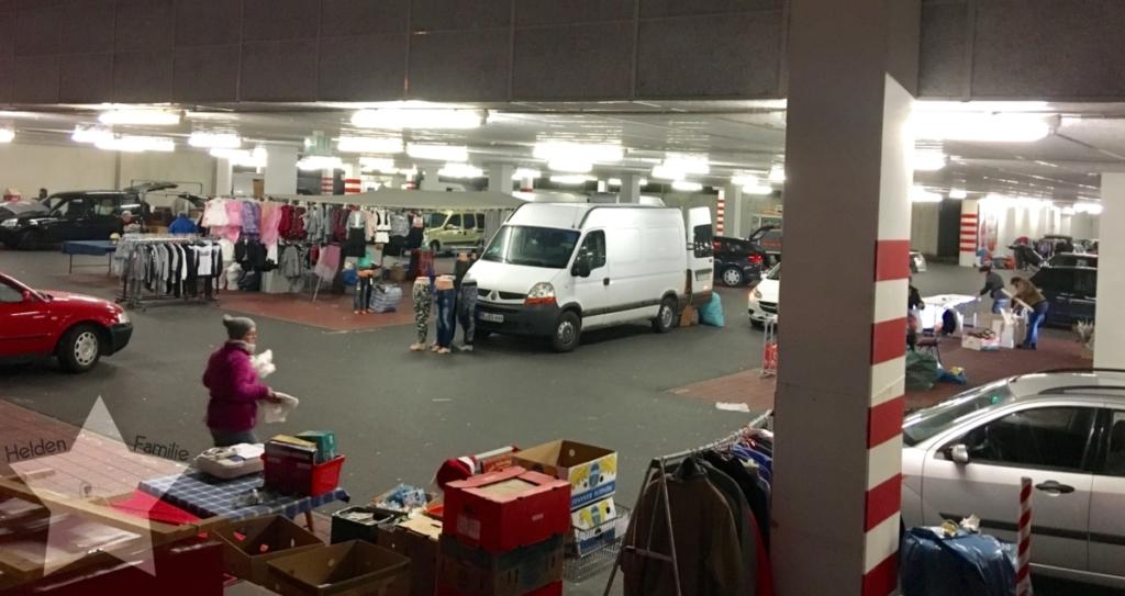 Wochenende in Bildern - Familienzeit - Flohmarkt-Abbau