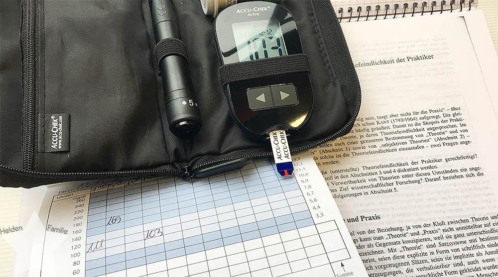 Langer Uni-Tag - Blutzuckerspiegel messen