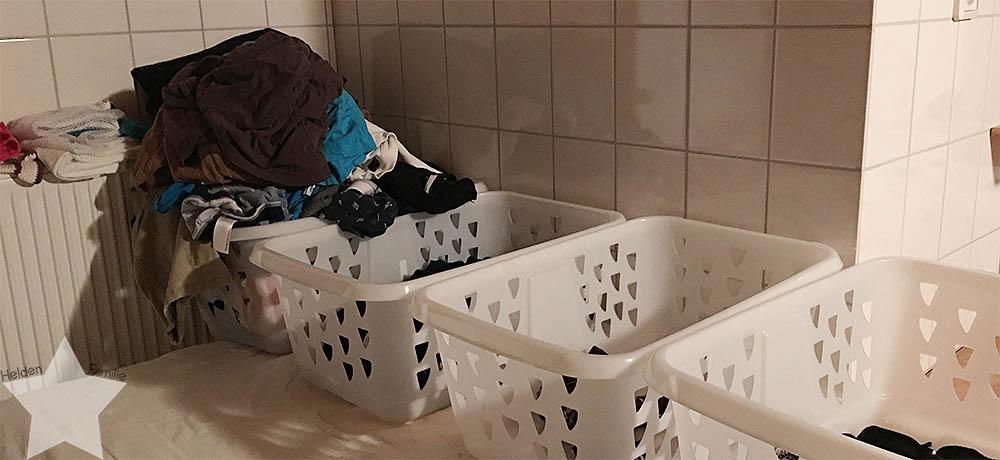 Wochenende in Bildern - Putzaktion & Babyvorbereitungen - Wäsche für 4 Personen