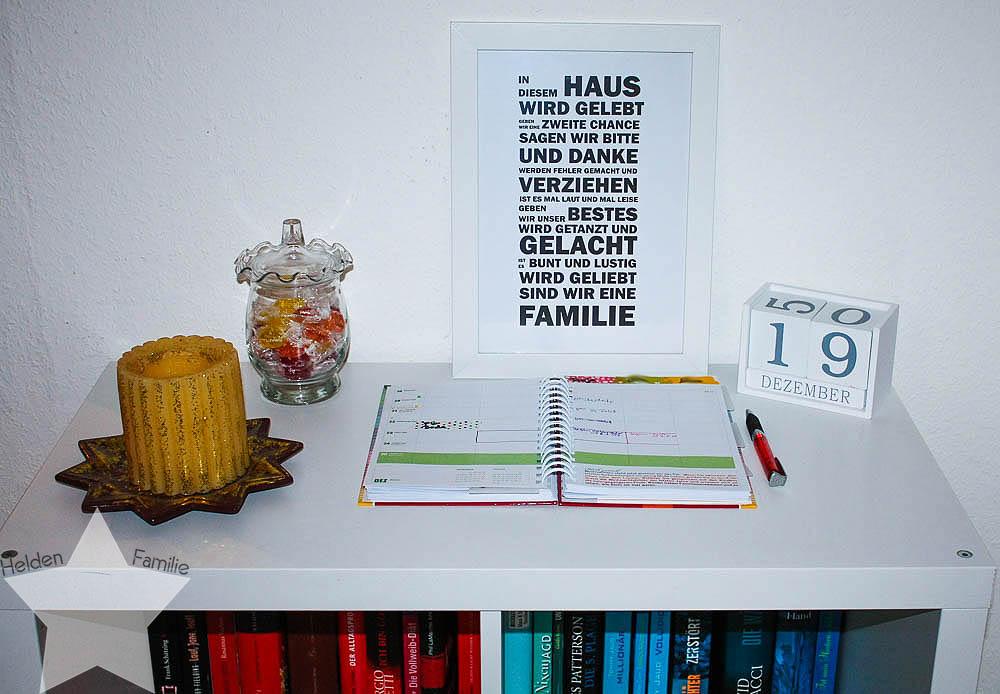 Familienplaner - Mama AG - zentral im Flur zu finden