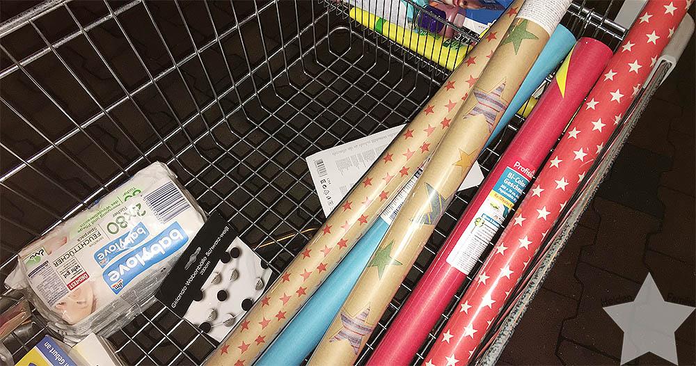 Langer Uni-Tag - Geschenkpapier gekauft