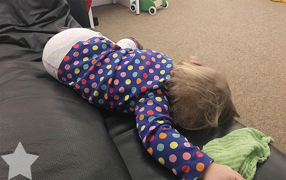 Wochenende in Bildern - krank am Wochenende - Kleinkind ist müde