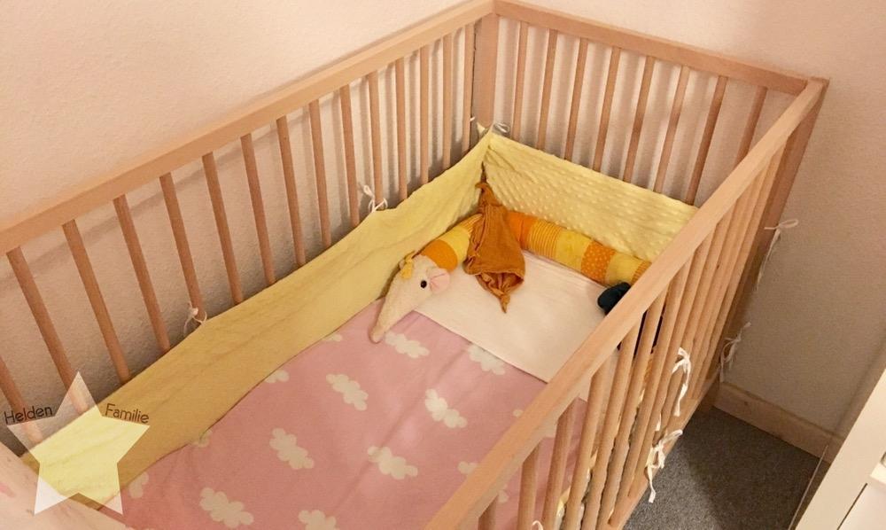 Wochenende in Bildern - Gesundwerden - eigenes Babybett im Schlafzimmer