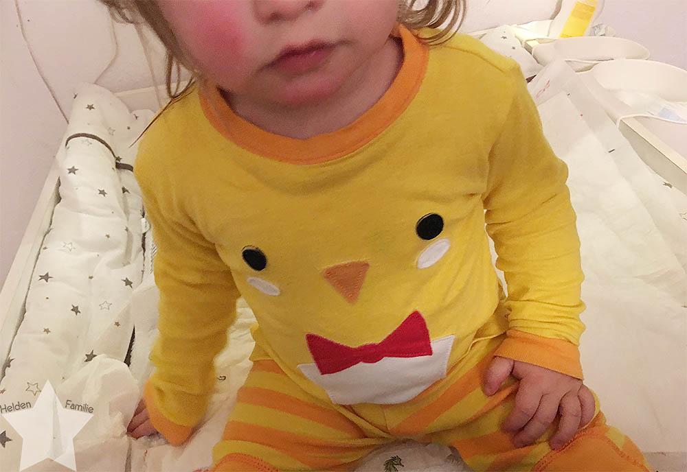 Wochenende in Bildern - Nähprojekte & Schneegestöber - Kleinkind bettfertig