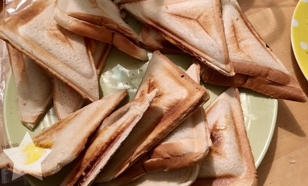 Bauchwehbaby und Abstillen - Sandwiches als Abendbrot