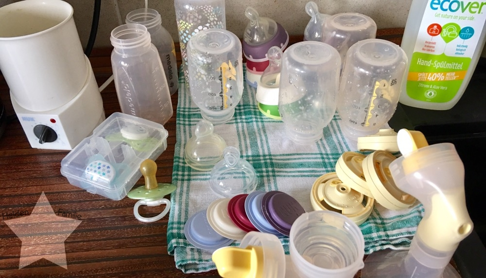 Bauchwehbaby und Abstillen - Fläschchen spülen