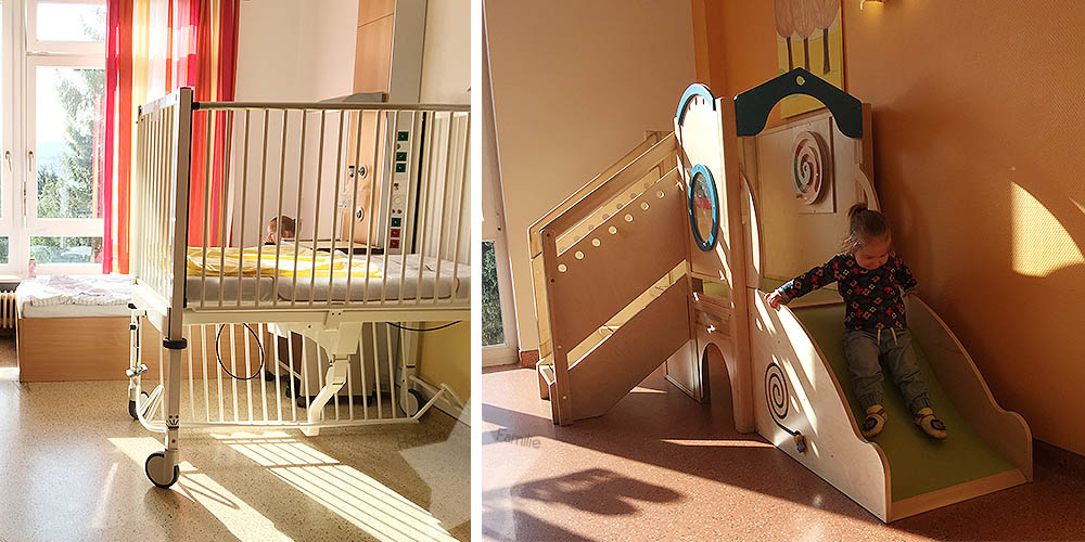 Kleinkind im Krankenhaus - Krankenbett - Spiegeinsel - www.helden-familie.de