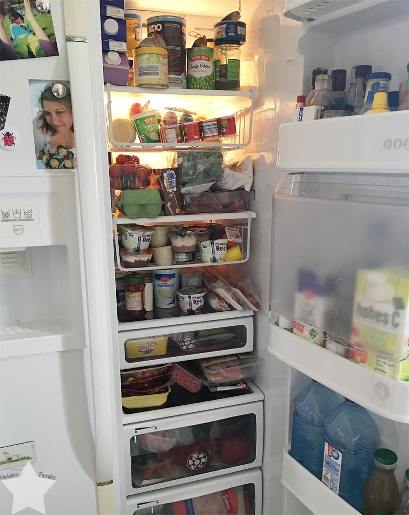 Angrillen und Sonntagseinladung - Wochenende in Bildern - www.helden-familie.de - Kühlschrank gefüllt