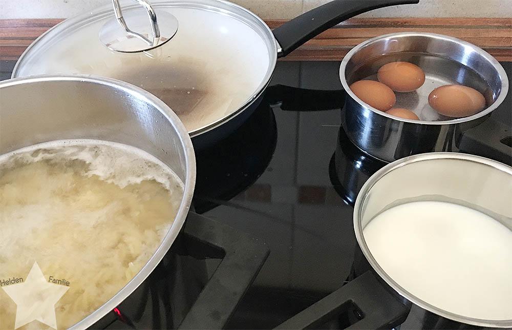 Sonnenwochenende - Nudelsalat in der Vorbereitung