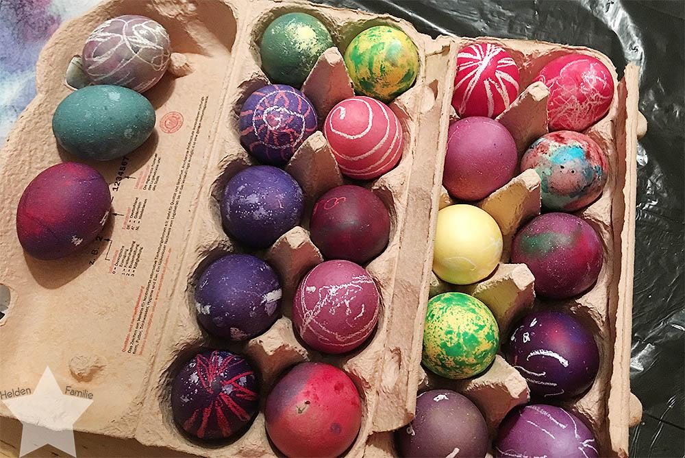 Ostern in Bildern - Eier gefärbt