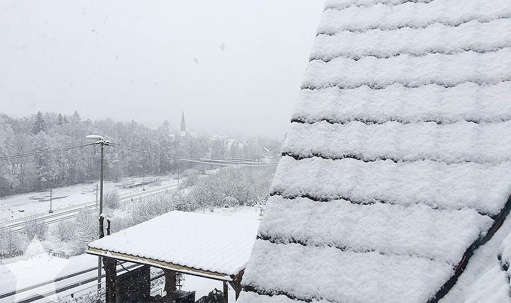 Ostern in Bildern - Schnee im April