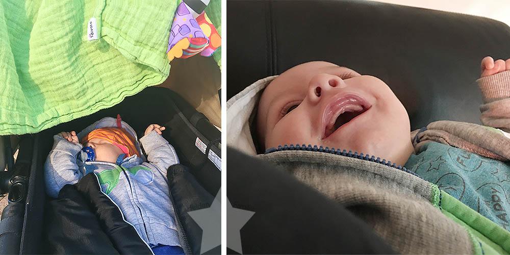 2 Monate Jona - Sonnenscheinbaby lacht