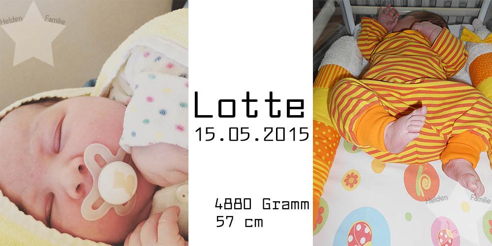 Mutter sein - damals und heute: Geburt - Lotte ist da!