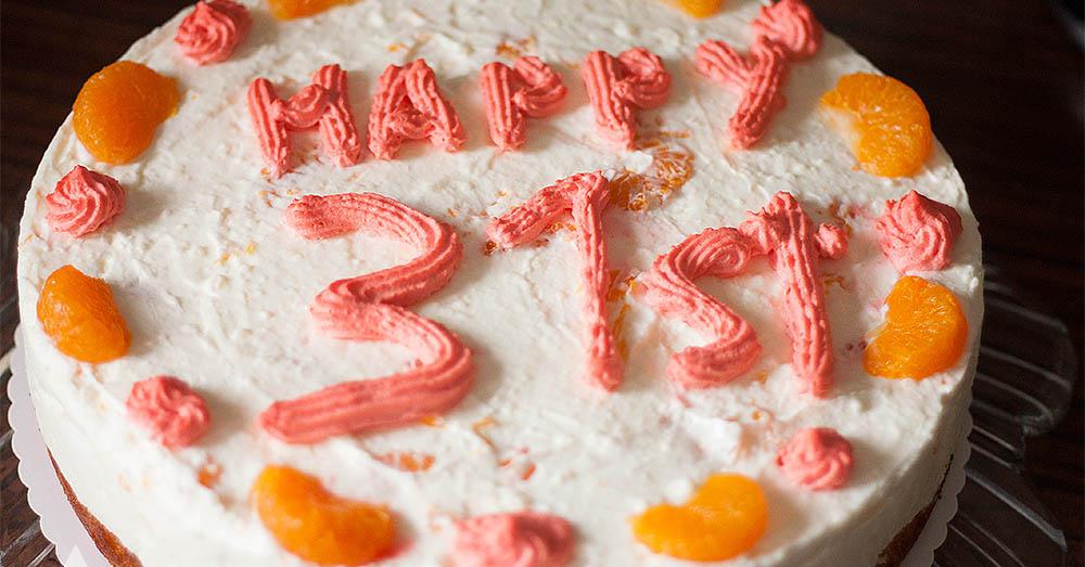 #WMDEDGT - 31. Geburtstag - Torte vom Mann gebacken