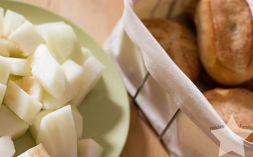Wochenende in Bildern - Honigmelone und Brötchen zum Frühstück