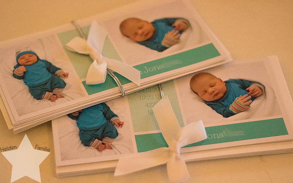 Wochenende in Bildern - Dankeskarten zur Geburt