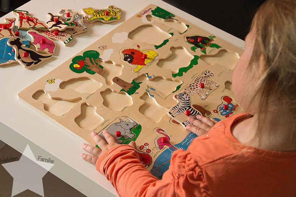 Wochenende in Bildern - Geburtstagsvorbereitungen & Muttertag - Puzzle mit dem Kleinkind