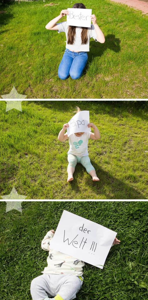 Wochenende in Bildern - Sonne, Garten, Wasserspiele - Fotos als Geschenk für den Vatertag