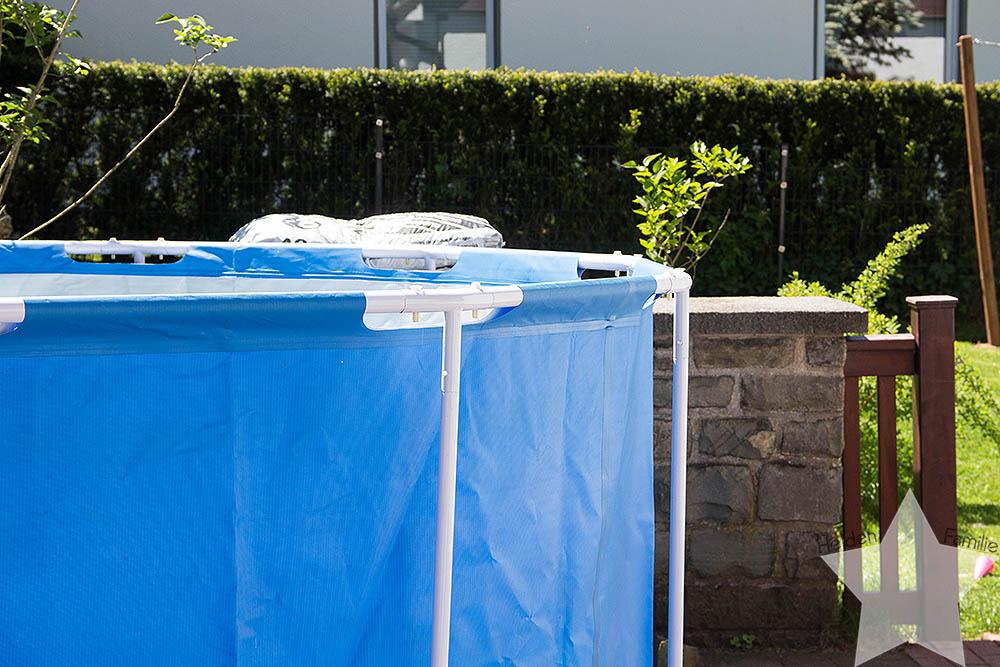 Wochenende in Bildern - Sonne, Garten, Wasserspiele - Pool aufbauen