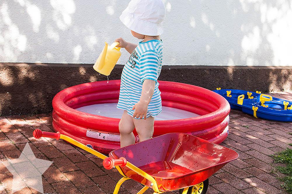 Wochenende in Bildern - Sonne, Garten, Wasserspiele - Lotte liebt Wasser