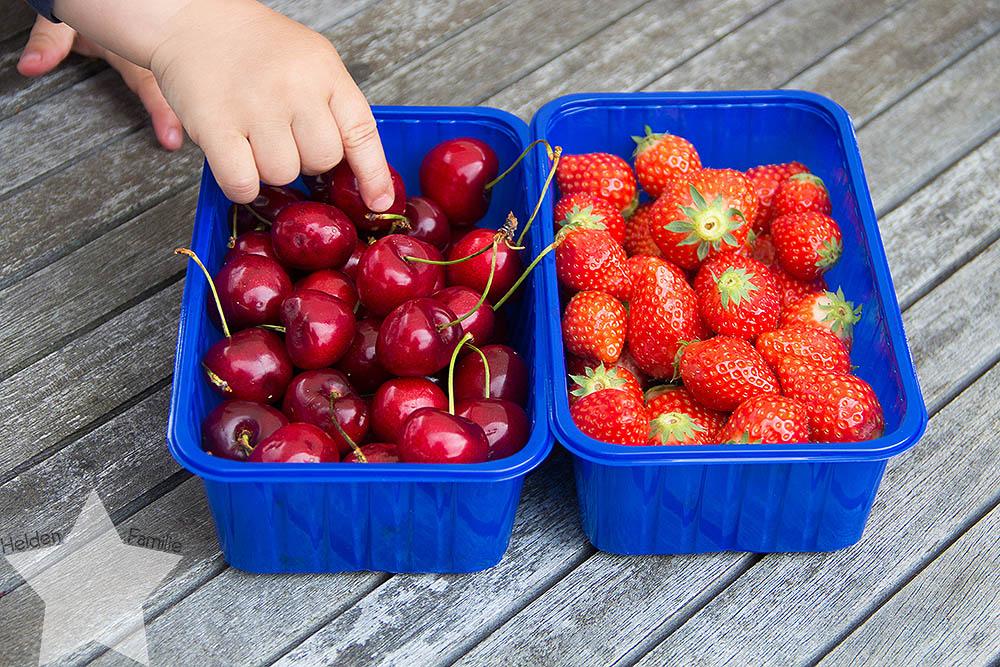 Freitagslieblinge - Lieblingsessen der Woche - Erdbeeren und Kirschen