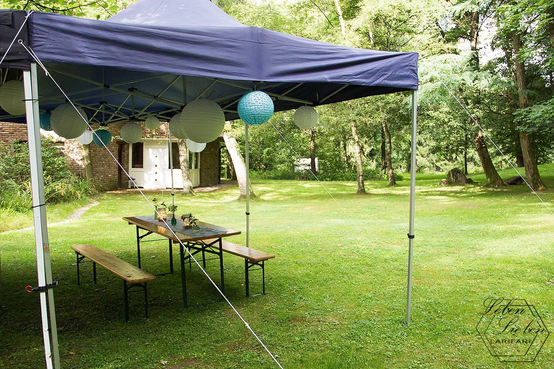 Wochenende in Bildern - Hochzeit - Location mit Pavillon