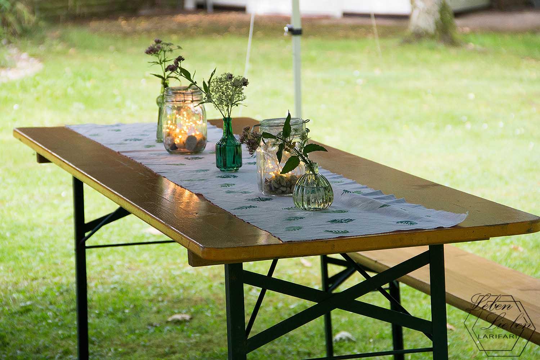 Wochenende in Bildern - Hochzeit - Tischdeko in Grüntönen