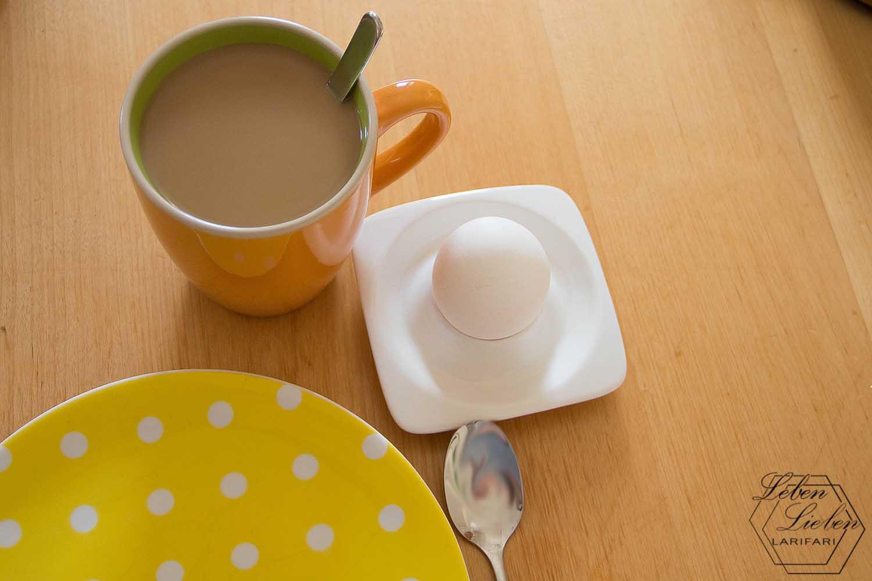 Wochenende in Bildern - Frühstücksei und Kaffee