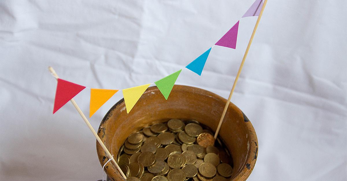 Topf Voll Gold Ein Diy Geschenk Zur Hochzeit Geld Kreativ