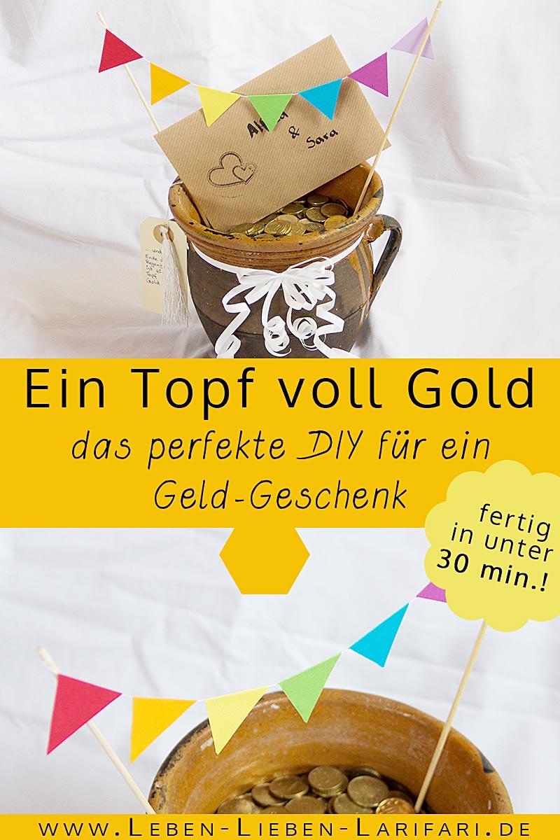 ein Topf voll Gold | DIY-Geschenk zur Hochzeit