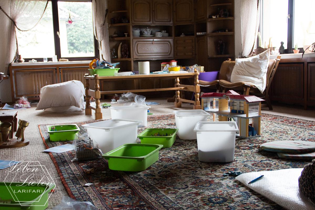 12von12 und Wochenende in Bildern - viel Arbeit und ein neuer Apfelbaum - Wohnzimmer chaotisch