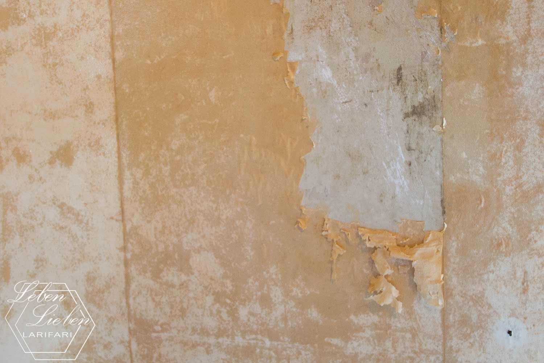 Renovierung - Tapeten abkratzen