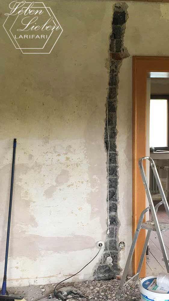 Renovierung - Schlitze in die Wände für Ethernet