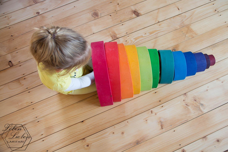 Wochenende in Bildern - spielen mit dem Regenbogen