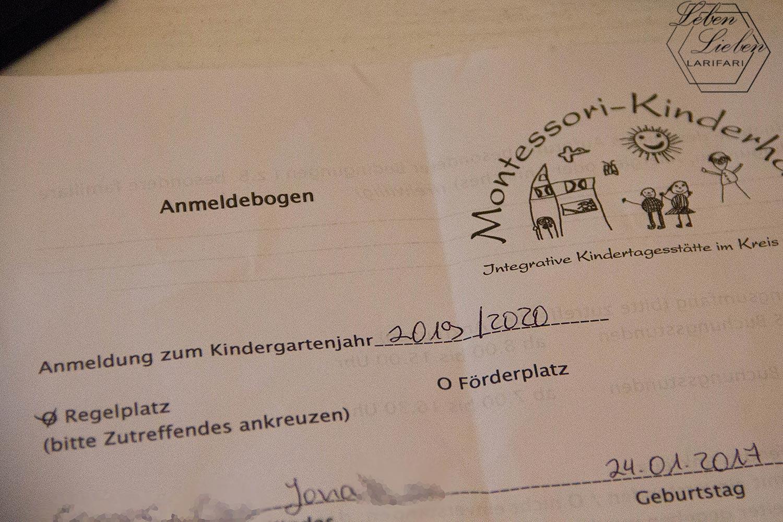Wochenende in Bildern - Anmeldung fürs übernächste Kindergartenjahr