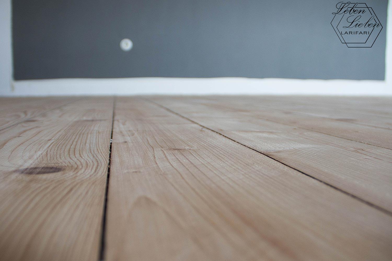 fertig geschliffene Holzdiele