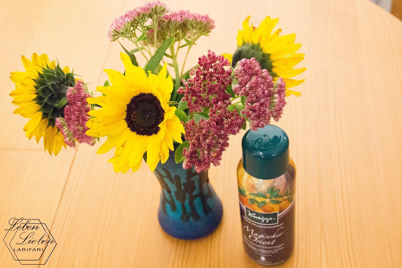 #WIB - ein Dankeschön: Blumen und Badezusatz