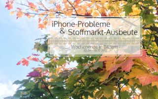 iPhone-Probleme und Stoffmarkt-Ausbeute | Wochenende in Bildern 30.09.-01.10.