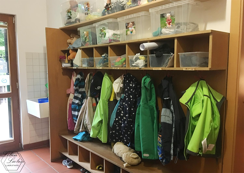 Garderobe im Kinderhaus - Eingewöhnung abgeschlossen