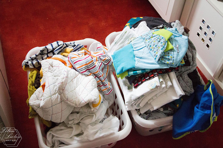 Wochenende in Bildern - Wäsche für 2 Kinder