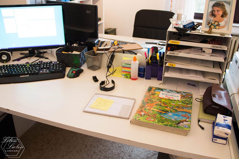 Wochenende in Bildern - der Schreibtisch ist aufgeräumter
