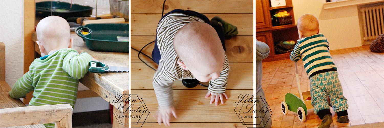 10 Monate Jona - Stehen, Laufen, Krabbeln