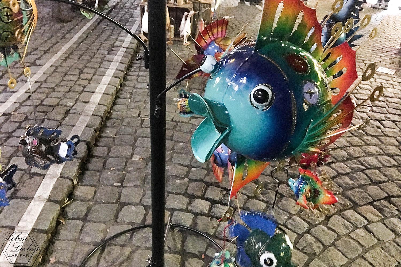 Fisch auf dem Weihnachtsmarkt