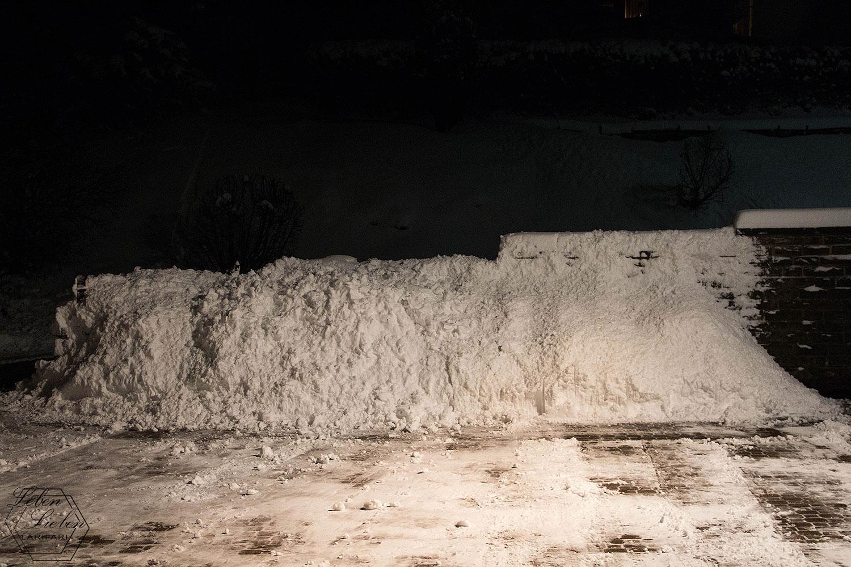 Wand aus Schnee
